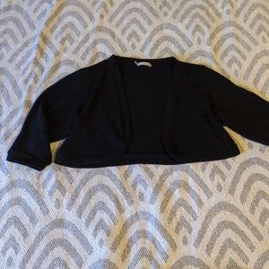 Maurices sparkly black shrug
